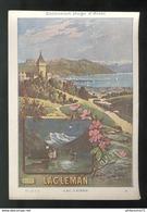 Publicité Format CPA Collection Hugo D'Alési - Lac Léman - Illustrators & Photographers