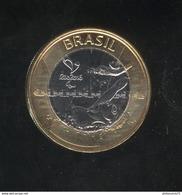 1 Réal Brésil / Brazil - CC Rio 2016 - Natation Para-Olympique - Bi-métallique / Bimetalic UNC - Brésil