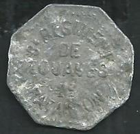 8eme Régiment De Zouaves 2eme Bataillon. Piece Aluminium 1FR . Poids 1Gramme - France