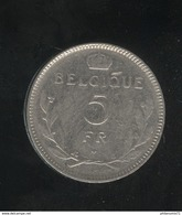 5 Francs Belgique 1936 - Belgique - 1934-1945: Leopold III