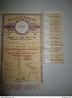 Rente Au Porteur 4, 50 % Dette Publique 1932 - Banque & Assurance