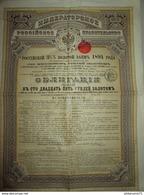 Obligation De 125 Roubles OR à 3,5 % Au Porteur - 500 Francs - 1894 - Rusia
