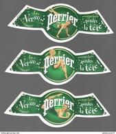 Lot De 3 Etiquettes Pin'Up Perrier - Le Verso De L'étiquette Vous Fera Perdre Le Tête - Etat Neuf - Perrier