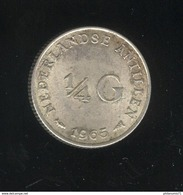 1/4 Gulden Antilles Néerlandaises / Nederland Antillen 1965 TTB - Antille Olandesi