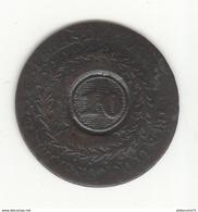 10 Réis Sur 20 Réis Brésil 1830 - Surfrappe - Brésil