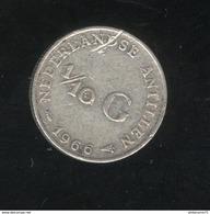 1/10 Gulden Antilles Néerlandaises / Nederland Antillen 1966 TTB+ - Antilles Neérlandaises