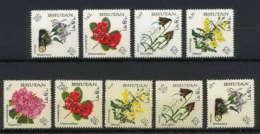 437a Bhutan (bouthan) MNH ** Yvert N° 101 / 109 Mi 130-138 Fleurs (fleur Flower Flowers) 1967 - Bhoutan