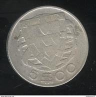 5 Escudos Portugal 1942 - TTB - Portugal