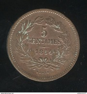 5 Centimes Luxembourg / Luxemburg 1854 TTB - Luxembourg