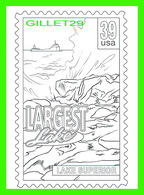 TIMBRES REPRÉSENTATIONS - CHILDRENS COLORING POST CARDS - LARGEST LAKE, LAKE SUPERIOR - - Timbres (représentations)