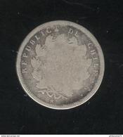 1/2 Decimo Chili / Chile 1857 - TB - Chili