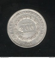 200 Reis Brésil / Brazil 1866 Flan Voilé - Brésil