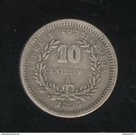10 Centimos 1893 Uruguay TTB - Uruguay