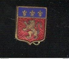 Broche Blason De Lyon - Militaria