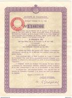 Reçu De Souscription De 5 Francs Or Aux Emprunts Serbes Et Yougoslaves De 1933 - Banque & Assurance