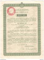 Reçu De Souscription De 50 Francs OR Aux Emprunts Serbes Et Yougoslaves De 1933 - Banque & Assurance