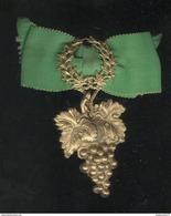 Badge De Boutonière Ancien - Concours De Vins Ou Compagnie Vineuse - Juwelen & Horloges