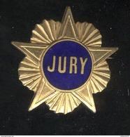 Broche Métal Ancien Jury - Dos Lisse - Militares