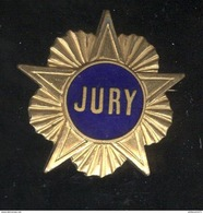 Broche Métal Ancien Jury - Dos Lisse - Militaria