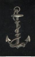 Broche Métal Ancienne Ancre De Marine - Militares