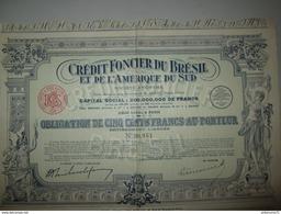 Obligation De 500 Francs - Crédit Foncier Du Brésil Et De L'Amérique Du Sud - 1929 - Industrial