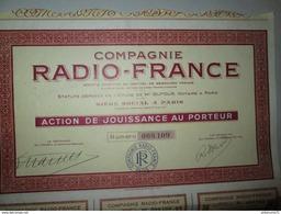 Action De Jouissance Au Porteur - Compagnie Radio-France - Industrie
