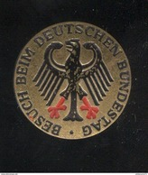 Jeton Allemand - Badge Visiteur Au Parlement Allemand De Berlin - Allemagne