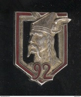 Insigne 92ème Régiment D'Infanterie - Drago Paris - Armée De Terre