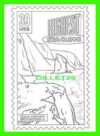 TIMBRES REPRÉSENTATIONS - CHILDRENS COLORING POST CARDS - HIGHEST SEA CLIFFS, MOLOKA'I ISLAND , HAWAII - - Timbres (représentations)