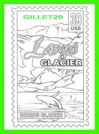 TIMBRES REPRÉSENTATIONS - CHILDRENS COLORING POST CARDS - LARGEST GLACIER, BERING GLACIER, CORDOVA, ALASKA - - Timbres (représentations)