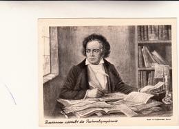 Beethoven Su Cartolina Postale Viaggiata Da Bonn  Per Bologna 1963 - Nomi