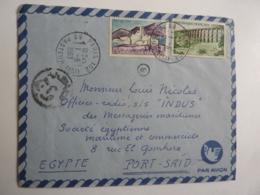 """Erinnophilie Expédié De France Vers Port Said  """"INDUS Cachets France Et Egypte   Messageries Maritimes Nov 2018 Alb 5 - Marcophilie (Lettres)"""