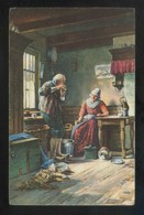 *Ferdinand Julius Fagerlin - Feierabend* Ed. Stengel Nº 29312. Nueva. - Pintura & Cuadros