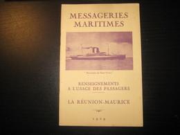 8203- 2018   LIVRET 1929 DES MESSAGERIES MARITIMES..PAQUEBOT BERNARDIN DE SAINT PIERRE..DESTINATION LA REUNION MAURICE - Bateaux