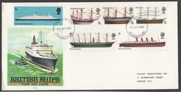 1969  British Ships    On PhilArt Private FDC - FDC