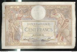 Billet 100 Francs France Merson 27-05-1938 - 1871-1952 Antichi Franchi Circolanti Nel XX Secolo