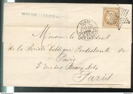 Marcophilie - Enveloppe De Paris à Paris 1868 - Marcophilie (Lettres)