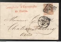Marcophilie - Lettre De Paris à Chateau Thiery  1860 - Marcofilie (Brieven)