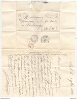 Marcophilie - Lettre De Dôle (39 ) à Vielverge ( 21 )  1868 - Surtaxe 30 - Marcophilie (Lettres)