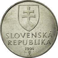 Monnaie, Slovaquie, 2 Koruna, 1994, TTB, Nickel Plated Steel, KM:13 - Slovaquie