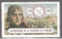 Vignette Bicentenaire De La Naissance De Napoléon 1er 1769-1969 - Erinnophilie