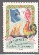 Vignette Français N'achetez Aucun Produit Austro-Allemand - 1914-1915 - Erinnophilie