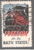 Vignette Freedom For The Baltic States - Circulée - Erinnophilie