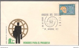 FDC Uruguay  Hombre Para El Progreso  - 29 Novembre 1971 - Uruguay