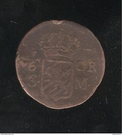 1/6 Ore Suède 1718 - Carl XIII - Suède