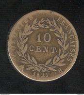 10 Centimes Colonies Françaises 1827 H - Charles X - Colonias