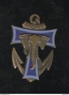 Insigne 3ème Compagnie Mixte De Transmissions - Indochine - Drago Paris Metra Déposé - Epingle à Nourrice - Marine