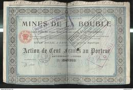 Action Au Porteur De 100 Francs Des Mines De La Bouble - 15 Octobre 1918 - Mines