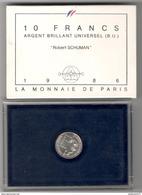Coffret BU 10 Francs Schuman 1986 - Monnaie De Paris - Très Bon état - K. 10 Francs