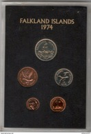 Set De 5 Monnaies Falkland 1974 Proof - Falkland Islands